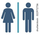 toilets vector icon. style is... | Shutterstock .eps vector #322972736