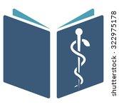 drug handbook vector icon.... | Shutterstock .eps vector #322975178