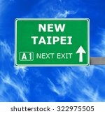 New Taipei Road Sign Against...