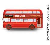 double decker bus isolated in... | Shutterstock .eps vector #322986332