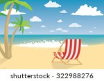 vacation on the beach. summer... | Shutterstock .eps vector #322988276