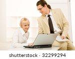 portrait of friendly workteam... | Shutterstock . vector #32299294