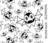 seamless pattern with cute bats | Shutterstock .eps vector #322994096