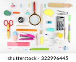 bright stationery objects on... | Shutterstock . vector #322996445