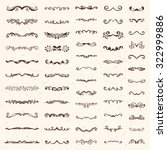 set of vintage sketch elements. ... | Shutterstock .eps vector #322999886