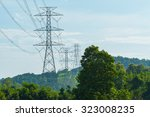 electric power transmission... | Shutterstock . vector #323008235