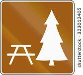 guide and information road sign ... | Shutterstock . vector #323012405