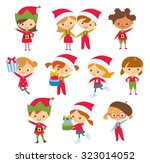 Cute Children At The Christmas...