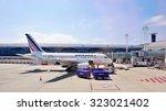 paris  france  8 june 2015  an... | Shutterstock . vector #323021402
