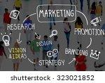 marketing strategy branding...   Shutterstock . vector #323021852