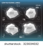 black and white low polygonal... | Shutterstock .eps vector #323034032