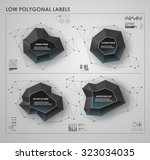 black and white low polygonal... | Shutterstock .eps vector #323034035