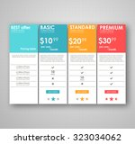 set offer tariffs. ui ux vector ... | Shutterstock .eps vector #323034062