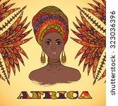 beautiful african woman in...   Shutterstock .eps vector #323036396