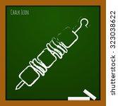 vector chalk drawn doodle... | Shutterstock .eps vector #323038622