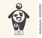 obesity related diseases icons   Shutterstock .eps vector #323041922