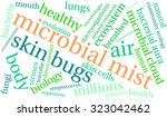 microbial mist word cloud on a... | Shutterstock .eps vector #323042462