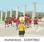 cartoon image illustrating an... | Shutterstock .eps vector #323047862