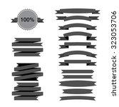 retro grey flat ribbons... | Shutterstock .eps vector #323053706