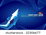 blue abstract background with... | Shutterstock .eps vector #32306677