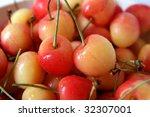 red and yellow rainier cherries | Shutterstock . vector #32307001