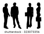 vector silhouette of people on... | Shutterstock .eps vector #323073356