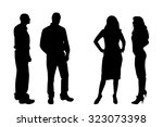 vector silhouette of people on... | Shutterstock .eps vector #323073398