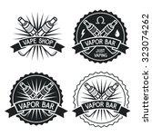 vapor bar and vape shop logo.... | Shutterstock .eps vector #323074262