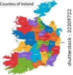 colorful republic of ireland... | Shutterstock .eps vector #32309722