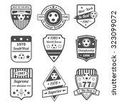 soccer and football sport game... | Shutterstock . vector #323099072