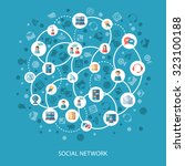 social networks and... | Shutterstock . vector #323100188