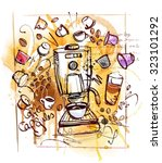 coffee capsules | Shutterstock .eps vector #323101292