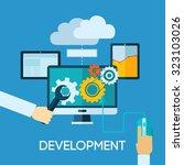 programm development concept... | Shutterstock . vector #323103026