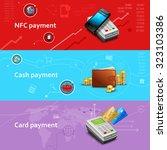 payment horizontal banners set... | Shutterstock . vector #323103386