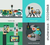 traffic design concept set with ... | Shutterstock . vector #323104868
