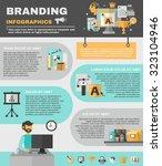 branding infographics set with... | Shutterstock . vector #323104946