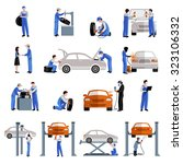 auto mechanic car service... | Shutterstock . vector #323106332