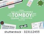 vector tomboy concept template | Shutterstock .eps vector #323112455