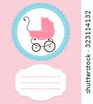card baby pink and buggy | Shutterstock .eps vector #323114132