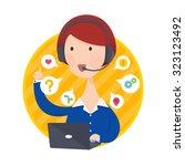 vector illustration of customer ... | Shutterstock .eps vector #323123492