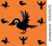 illustration of halloween black ... | Shutterstock . vector #323124176