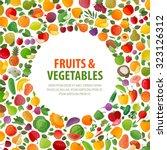 food vector logo design... | Shutterstock .eps vector #323126312
