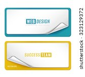 blank tags template set... | Shutterstock .eps vector #323129372