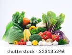 fresh raw organic vegetable... | Shutterstock . vector #323135246