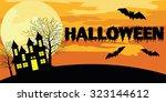 banner of halloween vector... | Shutterstock .eps vector #323144612