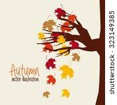 autum season design  vector... | Shutterstock .eps vector #323149385