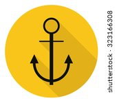 anchor icon  flat design with...
