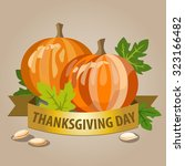 thanksgiving day concept with... | Shutterstock .eps vector #323166482