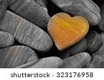 Heart Shaped Stone Isolated On...