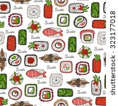 vector seamless pattern with... | Shutterstock .eps vector #323177018